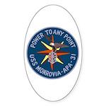 USS Monrovia (APA 31) Oval Sticker (50 pk)