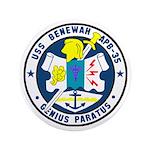 "USS Benewah (APB 35) 3.5"" Button (100 pack)"
