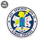 "USS Benewah (APB 35) 3.5"" Button (10 pack)"