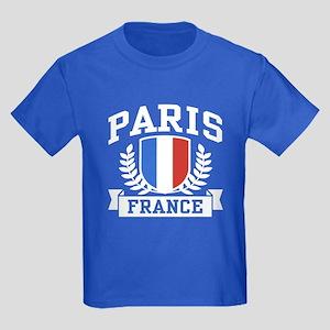 Paris France Kids Dark T-Shirt