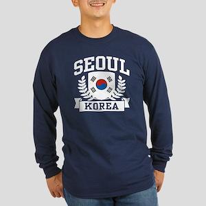 Seoul Korea Long Sleeve Dark T-Shirt