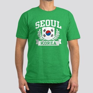 Seoul Korea Men's Fitted T-Shirt (dark)