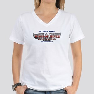 Wings of Silver Women's V-Neck T-Shirt