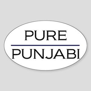 Pure Punjabi Oval Sticker