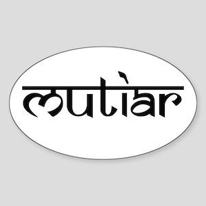 Mutiar Oval Sticker
