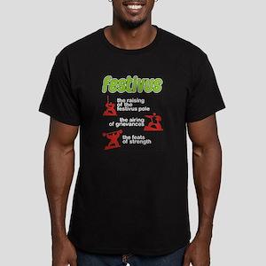 FESTIVUS™! Men's Fitted T-Shirt (dark)
