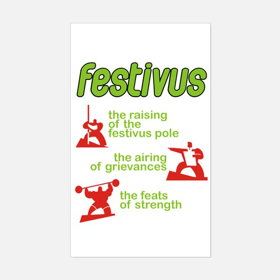 FESTIVUS™! Rectangle Decal