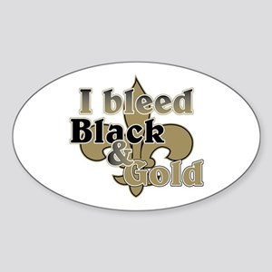 Bleed Black & Gold Sticker (Oval)
