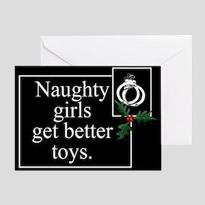 Naughty Girls Greeting Card