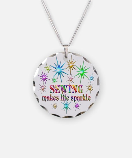 Sewing Sparkles Necklace