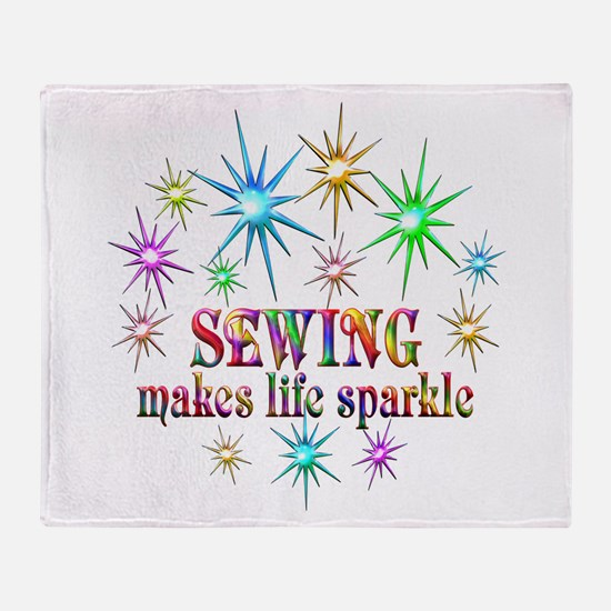 Sewing Sparkles Throw Blanket