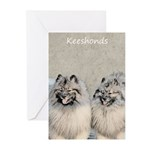 Keeshonds Greeting Cards (Pk of 20)