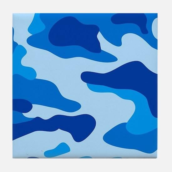 Sea camouflage Tile Coaster