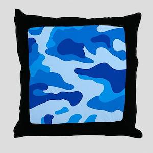 Sea camouflage Throw Pillow