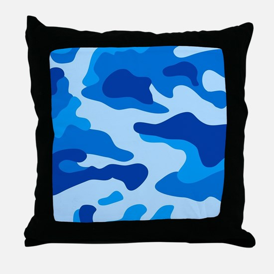 Sea camouflage Throw Pillow