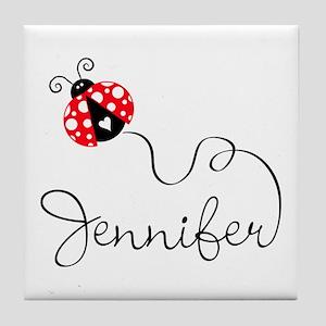 Ladybug Jennifer Tile Coaster