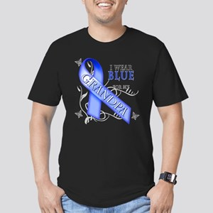 I Wear Blue for my Grandpa Men's Fitted T-Shirt (d
