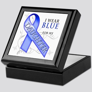 I Wear Blue for my Daughter Keepsake Box