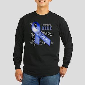 I Wear Blue for my Dad Long Sleeve Dark T-Shirt