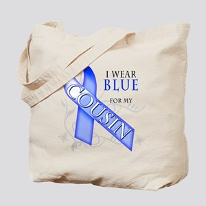 I Wear Blue for my Cousin Tote Bag