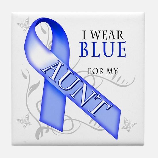 I Wear Blue for my Aunt Tile Coaster