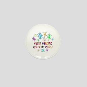 Salsa Dancing Sparkles Mini Button