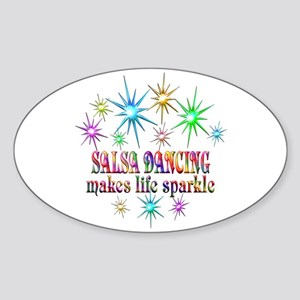 Salsa Dancing Sparkles Sticker (Oval)