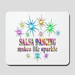 Salsa Dancing Sparkles Mousepad