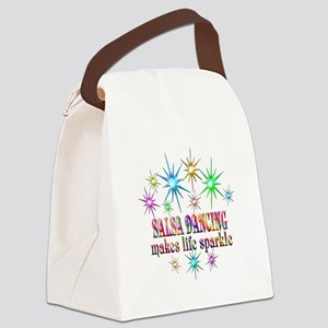 Salsa Dancing Sparkles Canvas Lunch Bag