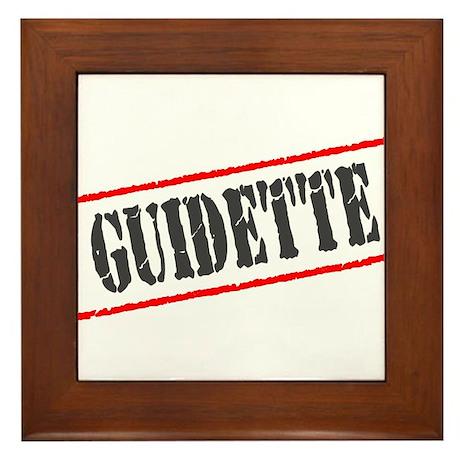 Guidette Framed Tile