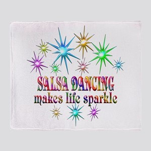 Salsa Dancing Sparkles Throw Blanket