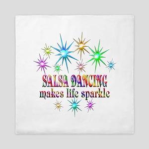 Salsa Dancing Sparkles Queen Duvet