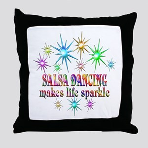 Salsa Dancing Sparkles Throw Pillow