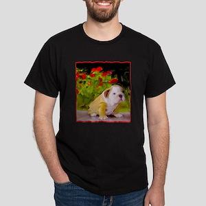 Bulldog Puppy Art Dark T-Shirt