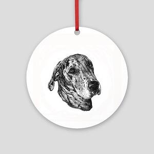 Merle Great Dane Ornament (Round)