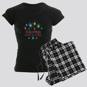 Salsa Dancing Sparkles Women's Dark Pajamas