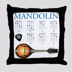 Mandolin 7 Chords Throw Pillow
