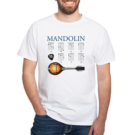 Mandolin 7 Chords White T-Shirt