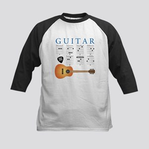 Guitar 7 Chords Kids Baseball Jersey