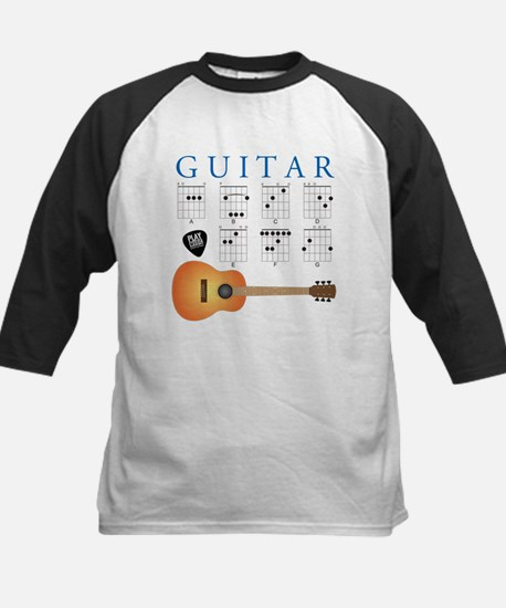 Guitar 7 Chords Kids Baseball Jersey