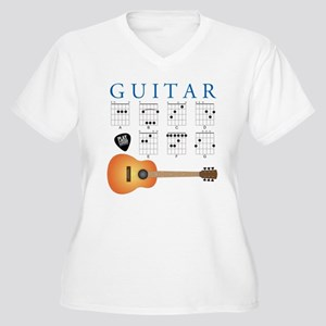 Guitar 7 Chords Women's Plus Size V-Neck T-Shirt