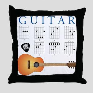Guitar 7 Chords Throw Pillow
