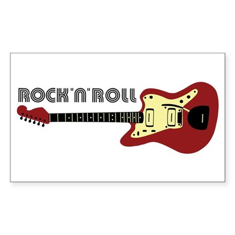 Rock'n'Roll Rectangle Sticker