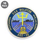 """USS Bolster (ARS 38) 3.5"""" Button (10 pack)"""
