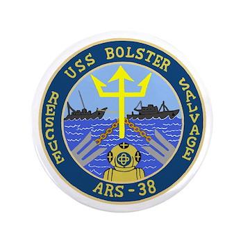 """USS Bolster (ARS 38) 3.5"""" Button"""