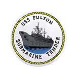 """USS Fulton (AS 11) 3.5"""" Button (100 pack)"""