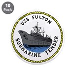 """USS Fulton (AS 11) 3.5"""" Button (10 pack)"""