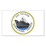 USS Fulton (AS 11) Rectangle Sticker 50 pk)