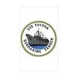 USS Fulton (AS 11) Rectangle Sticker 10 pk)