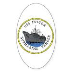 USS Fulton (AS 11) Oval Sticker (50 pk)
